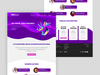 Visual design for landing page