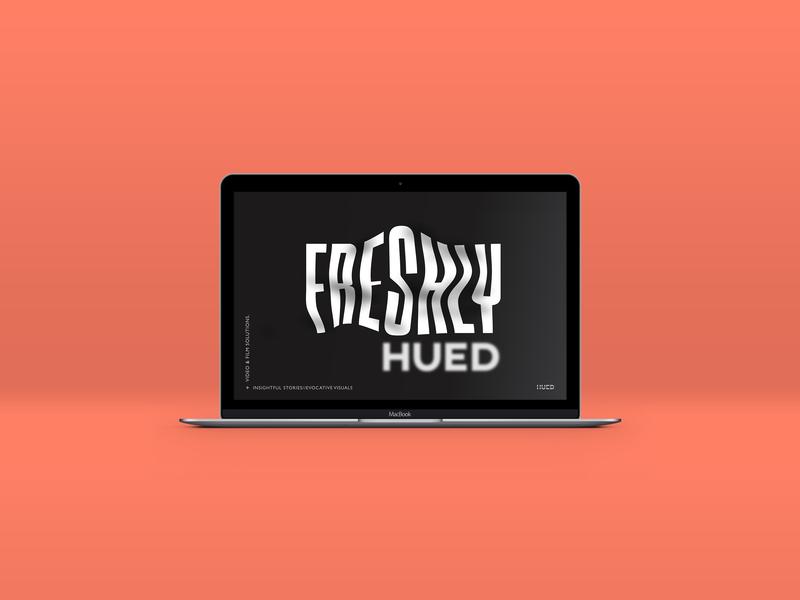HUED - Pitch Deck Design illustrator typographic design pitchdeck branding
