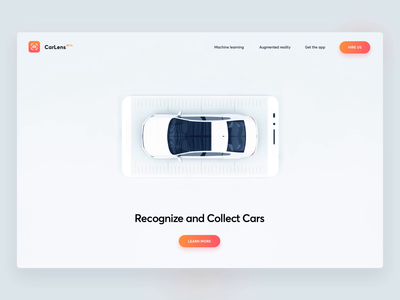 CarLens - Header Animation cars car automotive interaction design animation 3d landing page machine learning augmented reality ar