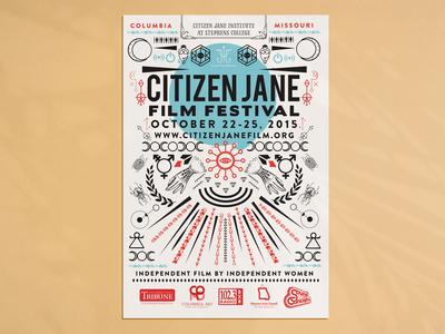 Citizen Jane Film Festival Poster Design