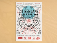 Citizen Jane Film Festival Poster Design