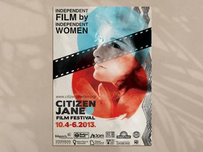 Citizen Jane Film Festival Design 2013