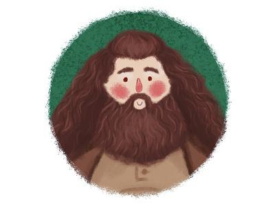 Hagrid fanart character desing fan art 2d character 2d artist digital art illustration