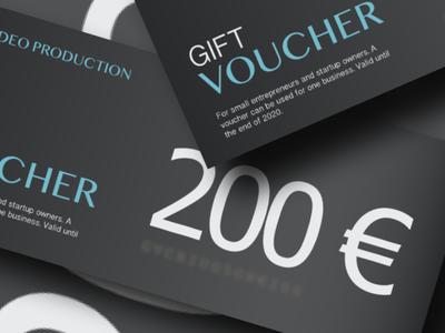 Gift Voucher design for criu video production affinitydesigner simplicity branding clean design criu minimalist design minimalist voucher design gift