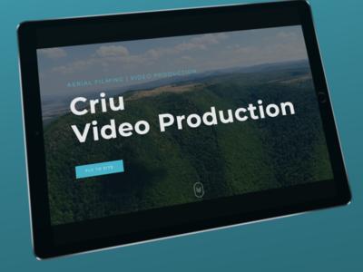 New site tablet mockup affinitydesigner clean design simplicity design video site new site criu video production branding tablet mockup