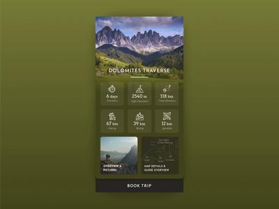 Hiking Map Animation