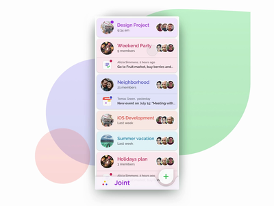 Invite Friends to Joint App color android design material design app friends invite animation