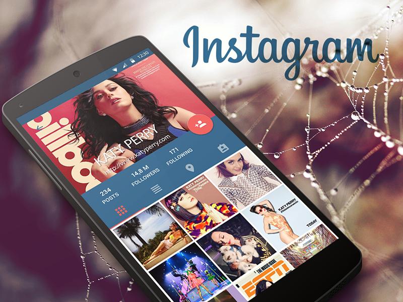 Instagram Concept Material Design instagram concept material design android app profile nexus lolipop redesign ui