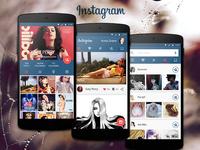 Instagram concept Material Design