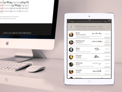 Classical Music finder application