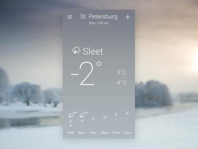 Sleet. Sky-inspired Weather App Concept