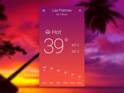 Hot. Sky-inspired Weather App Concept. hot day ui design concept app weather