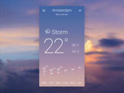 Storm Sky-inspired Weather App Concept storm ui design concept app weather
