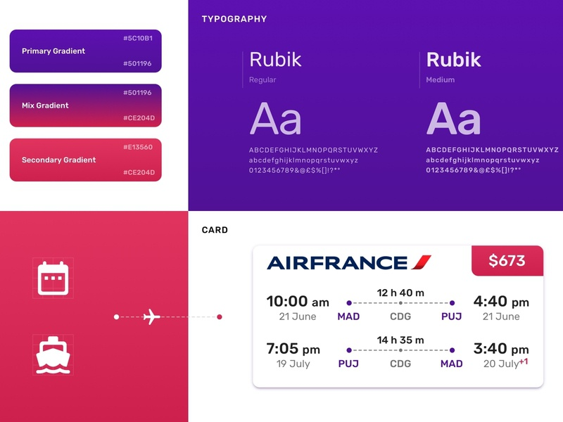 Booking App Styleguide library styleguide mobile colors palette material color natural concept ui app design