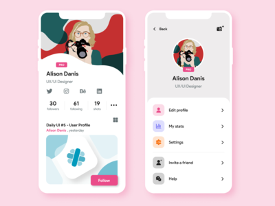 Daily UI  #6 - User Profile