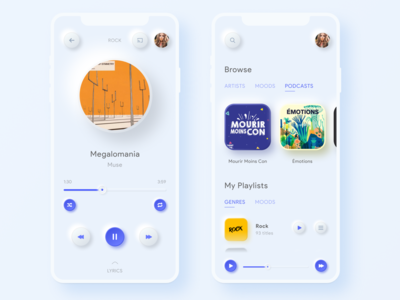 Daily UI  #9 - Music Player