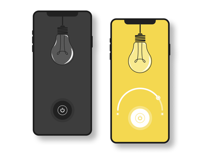 Daily UI  #15 - On/Off Switch illustration dark yellow lamp light bulb light turn off turn on onoff onoffswitch mobile design ui mobile mobile app designchallenge uidesignchallenge dailyuichallenge dailyui 015 uidesign ui dailyui