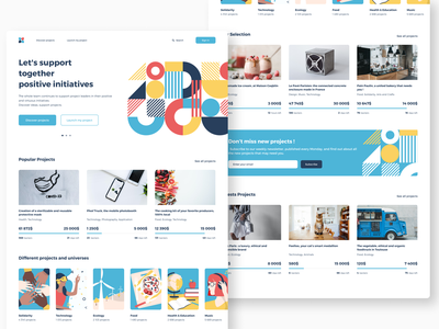 Daily UI #32 - Crowdfunding Campaign illustration geometric design graphicdesign ux ui community projects charity initiative website landingpage interface webdesign homepage product design crowdfunding campaign crowdfunding dailyuichallenge dailyui 032 dailyui