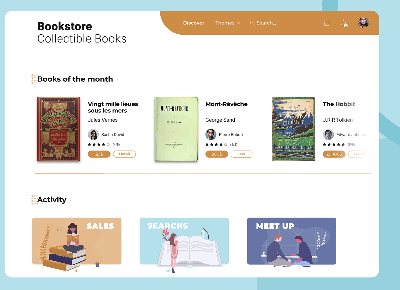 2 Bookstore web design by Alison Danis on Dribbble