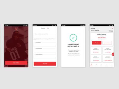 Instant Loan App mobile adobe xd app ui design