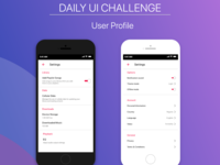 Daily UI Challenge - Settings