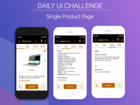Daily UI Challenge - Single Product Page
