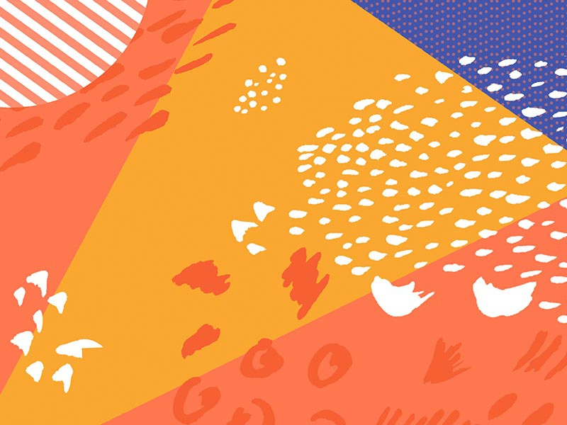 Painterly Pattern Play By Wildes District Dribbble Dribbble