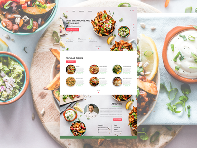 Restaurant Website Design website flat ui web design