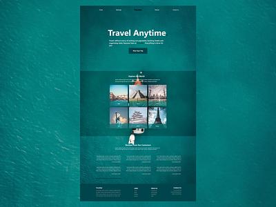 Travel Website Design branding website web ui flat design
