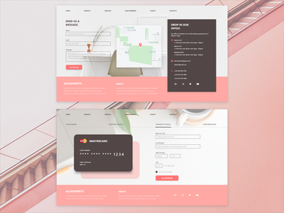 Payment Design Web View typography ux minimal website web ui flat design