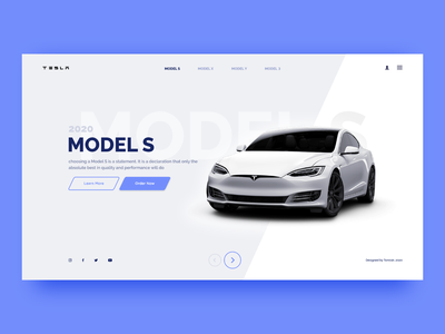 Cars - Web Landing Page car design cars interaction design interface landing page app design typography website web branding ux minimal flat ui design