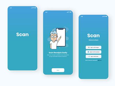 Scan - Mobile app ux ui  ux mobile mobile design mobile application mobile app design mobile app minimal design minimal interaction design flat ui scanner application receipt design app design app
