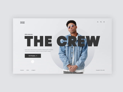 Masaba Apparel - Website landing page typography minimal design website web branding flat ux minimal ui design