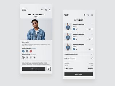 Masaba Apparel - Mobile responsive web design responsive design mobile app design mobile app minimal design app design app branding flat ux minimal ui design