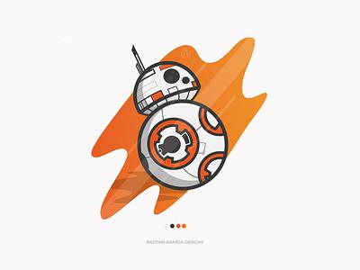 BB - 8 ilustraciondigital illustrator starwars icon design flat art vector illustration