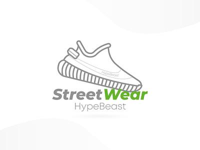 yeezy 350 boost flat illustration icon vector logo