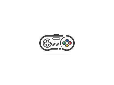 Joystick snes minimal icon design art vector illustration retro flat icon flat snes nintendo