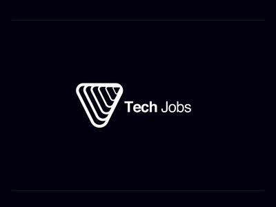 Logo for Tech Jobs logodesign black and white vector branding design logo illustration