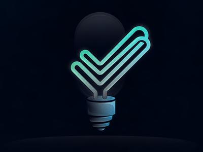 Double check design vector lightbulb illustration art illustration