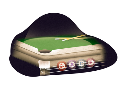 Pool of ABCP snooker lighting illustration