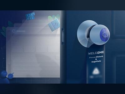 Welcome ui vector design illustration art illustration knob door business @opendoor