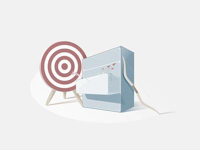 Goals vector illustration art illustration