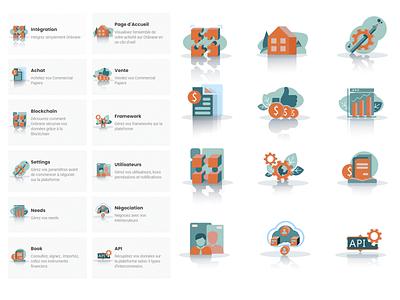 Icons for platform platform vector design ui icons illustration art illustration