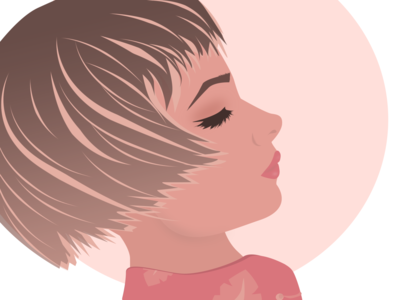 Cute Girl girl power colour design photoshop illustration gradient girl character