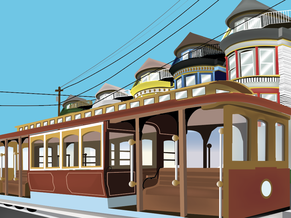 SanFrancisco Travel Poster illustration design sanfrancisco travel fullsail adobe illustrator