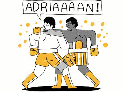 Rocky! draw editorial illustration ilustración illustration
