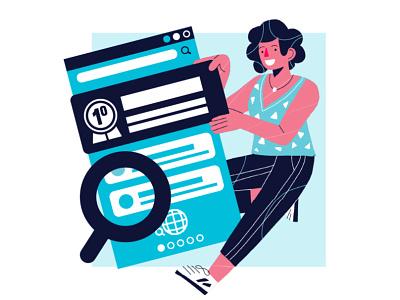 SEO character design ilustración freelance editorial illustration web illustration illustration