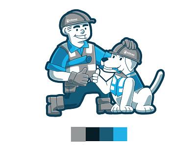 Código Construcciones Company Mascot mascot ilustración branding design web illustration editorial illustration illustration