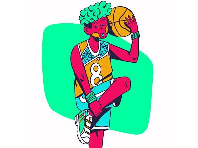 BASKETBALL GUY ilustración draw freelance web illustration editorial illustration illustration