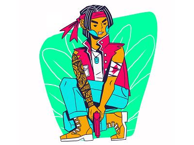 ONE MAN ARMY character design diseño de personaje ilustración web illustration freelance editorial illustration illustration